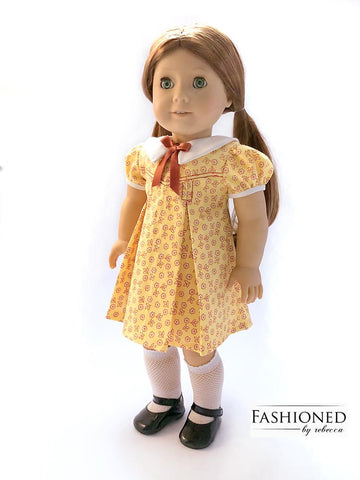 "Petals-n-Pleats 18"" Doll Clothes Pattern"