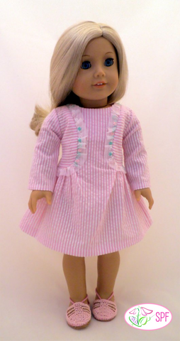 "Lilibet Dress 18"" Doll Clothes Pattern"