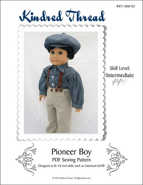 Kindred Thread Pioneer Boy Doll Clothes Pattern 18 Inch