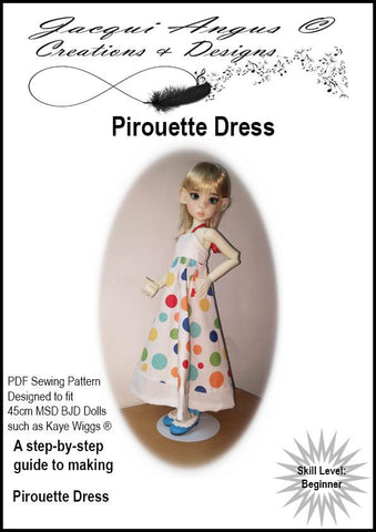 Pirouette Dress Pattern for MSD BJD Dolls