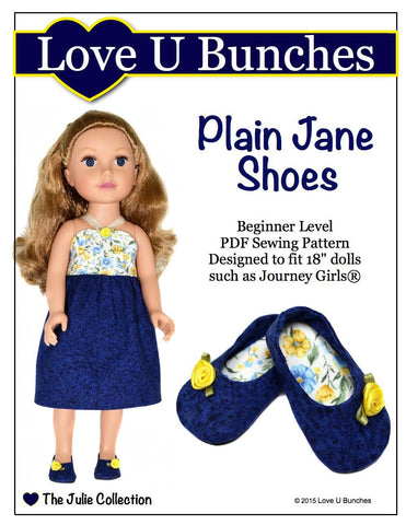 Love U Bunches Journey Girl Plain Jane Shoes for Journey Girls Dolls Pixie Faire