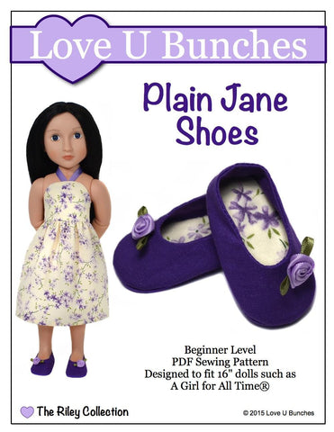 Love U Bunches A Girl For All Time Plain Jane Shoes for AGAT Dolls Pixie Faire