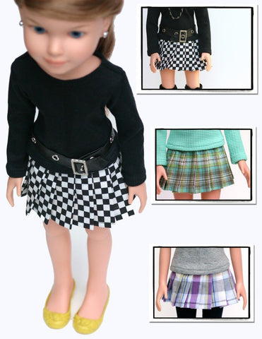 Pleated Skirt Pattern for BFC, Ink Dolls