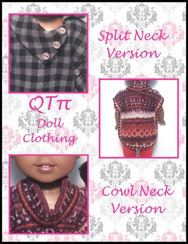 "Poncho 14.5"" Doll Clothes Pattern"