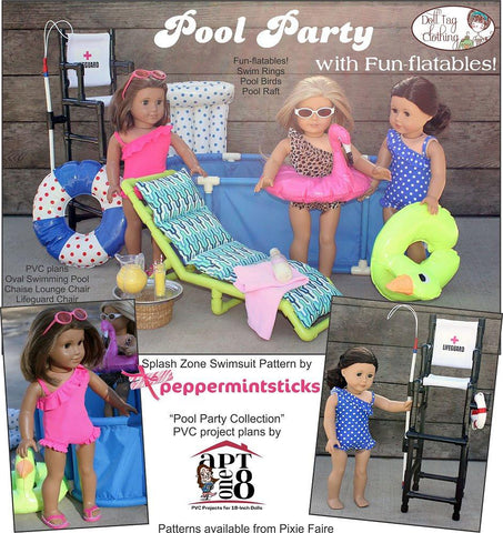 "Fun-flatable Pool Birds 18"" Doll Accessories"