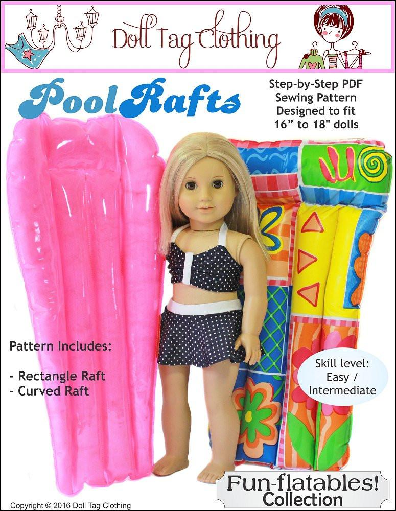 669bcdc65df30 Doll Tag Clothing Fun-flatable Pool Rafts Doll Accessory Pattern 18 ...