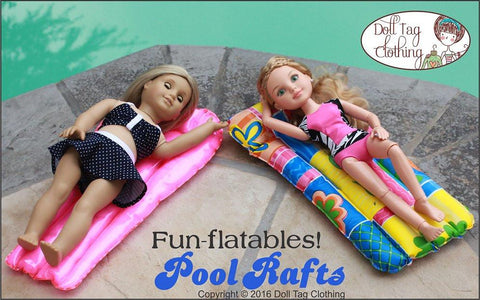 "Fun-flatable Pool Rafts 18"" Doll Accessories"