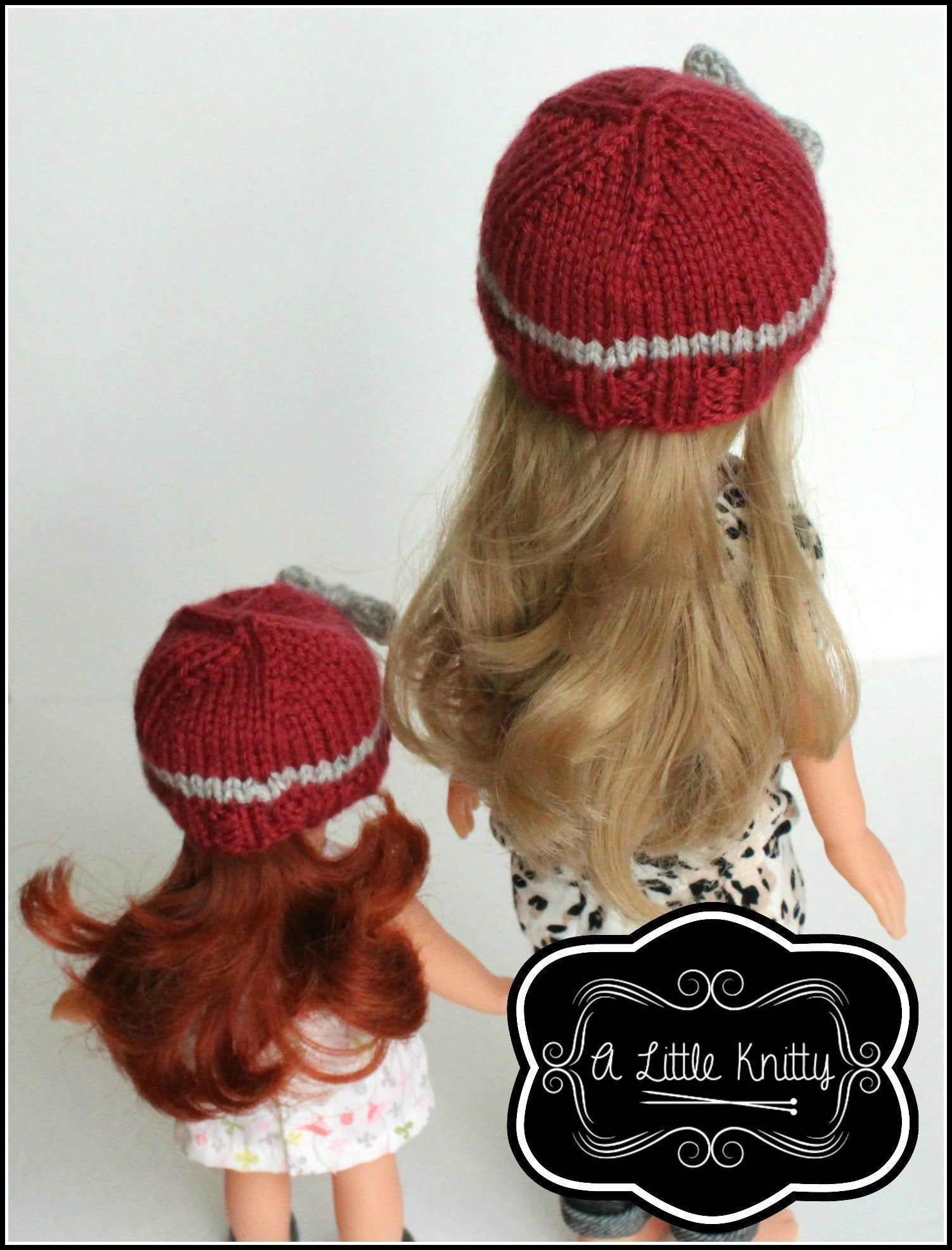 A little knitty portia bow hat doll clothes knitting pattern portia bow hat knitting pattern for girls les cheries dolls bankloansurffo Gallery