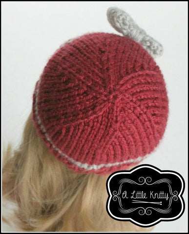 Portia Bow Hat Knitting Pattern for Girls & Les Cheries Dolls