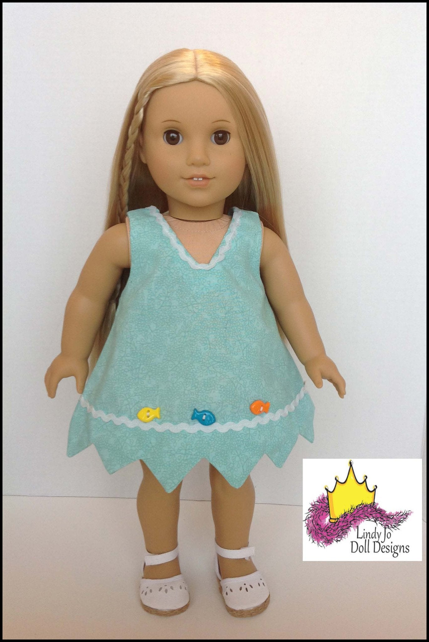 Lindy Jo Doll Designs Pretty Point Dress Doll Clothes
