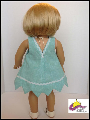 "Pretty Point Dress 18"" Doll Clothes Pattern"