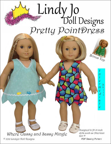 "Pretty Point Dress 18"" Doll Clothes"