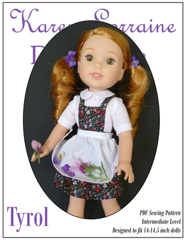 Tyrol 14-14.5 Inch Doll Clothes Pattern