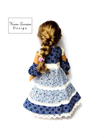 "Prairie Chic 18"" Doll Clothes Pattern"