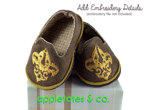 "Preppy Loafers 18"" Doll Shoe Pattern"