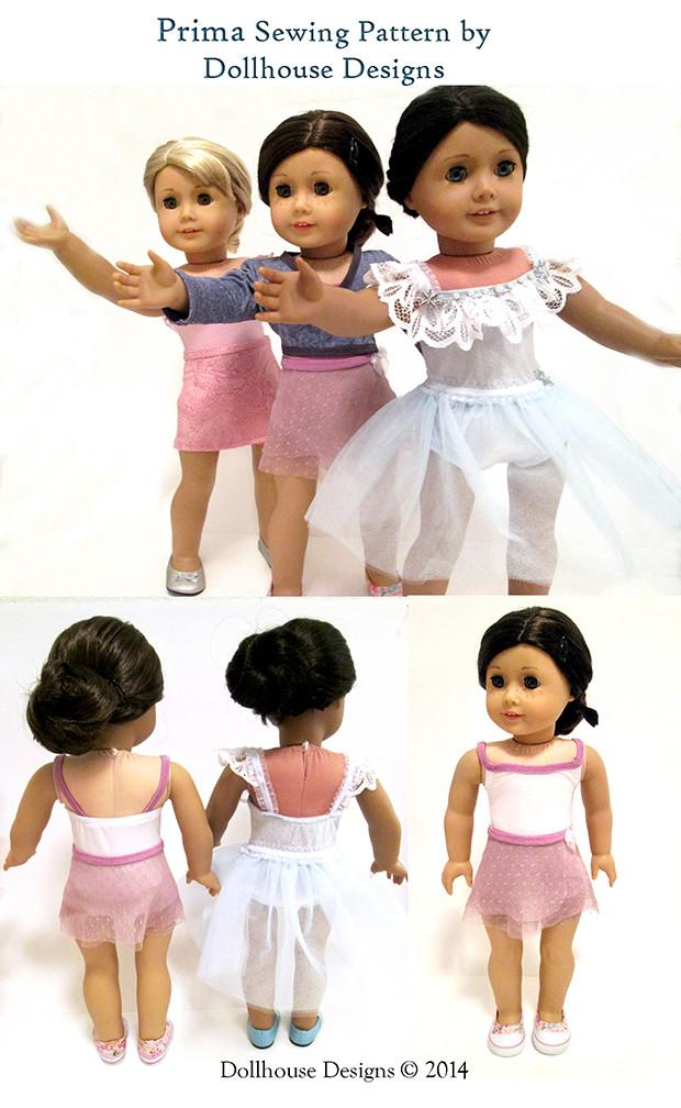 Dollhouse Designs Prima Dancewear 18 inch Doll Clothes Pattern ...