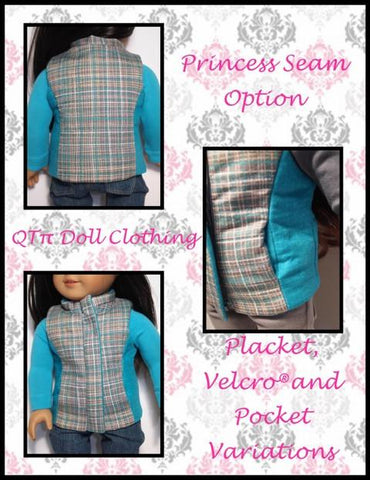 "Puffer Vest 18"" Doll Clothes Pattern"