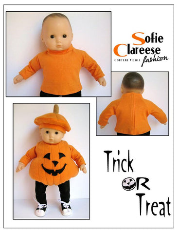 "Lil' Pumpkin Costume 15"" and 18"" Doll Clothes Pattern"