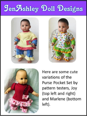 "Purse Pocket Set 15"" Doll Clothes Pattern"
