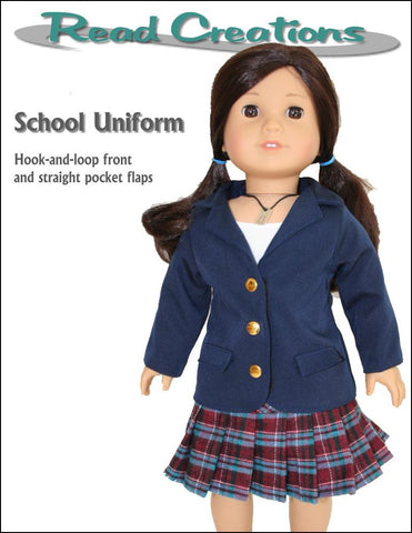 Read Creations Riding Jacket PDF sewing pattern designed to fit 18 inch American Girl dolls  school uniform