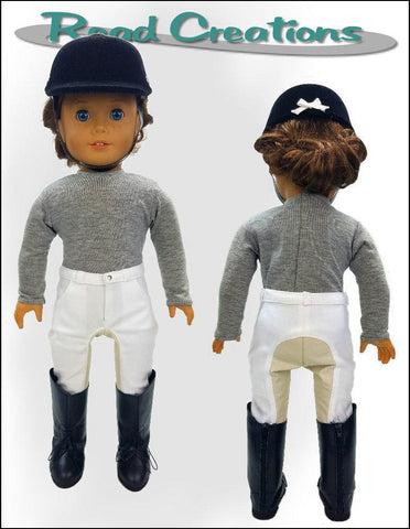 "Riding Pants 18"" Doll Clothes Pattern"