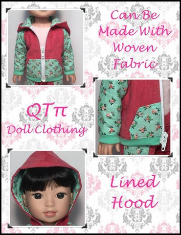 "QTπ Doll Clothing WellieWishers Rough N Tumble Hoodie 14.5"" Doll Clothes Pattern Pixie Faire"