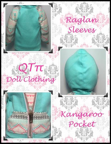 "Rough N Tumble Hoodie 14.5"" Doll Clothes Pattern"