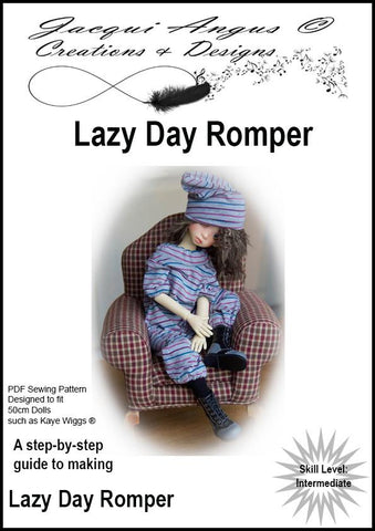 Lazy Day Romper Pattern for MSD BJD Dolls