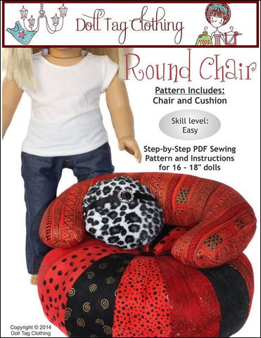 "Round Chair for 18"" Dolls"