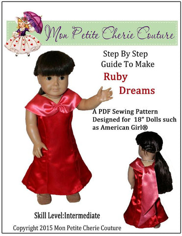 "Mon Petite Cherie Couture 18 Inch Modern Ruby Dreams 18"" Doll Clothes Pixie Faire"