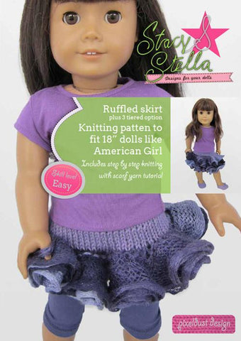 Ruffled Skirt Knitting Pattern