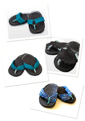 "Stacy and Stella Shoes Pacific Blue Sandals 18"" Doll Shoes Pixie Faire"