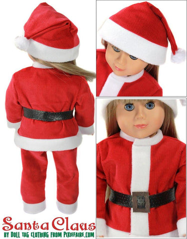 "Santa Claus 18"" Doll Clothes Pattern"