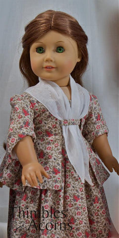 "Sacque Back Gown and Pet en l'ier 18"" Doll Clothes Pattern"
