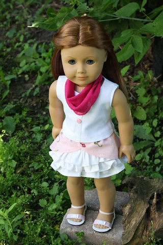 "Savannah Skirt 18"" Doll Clothes Pattern"