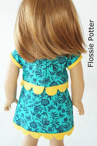 "Sweet Scallops Skirt & Top 18"" Doll Clothes Pattern"