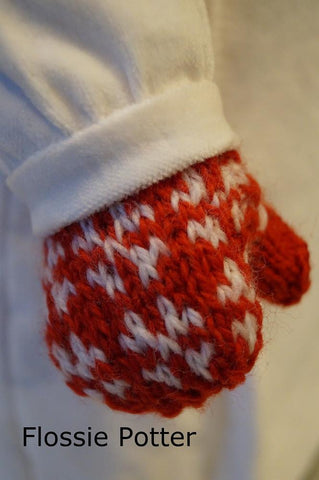 Scandinavian Mittens & Hat Knitting Pattern