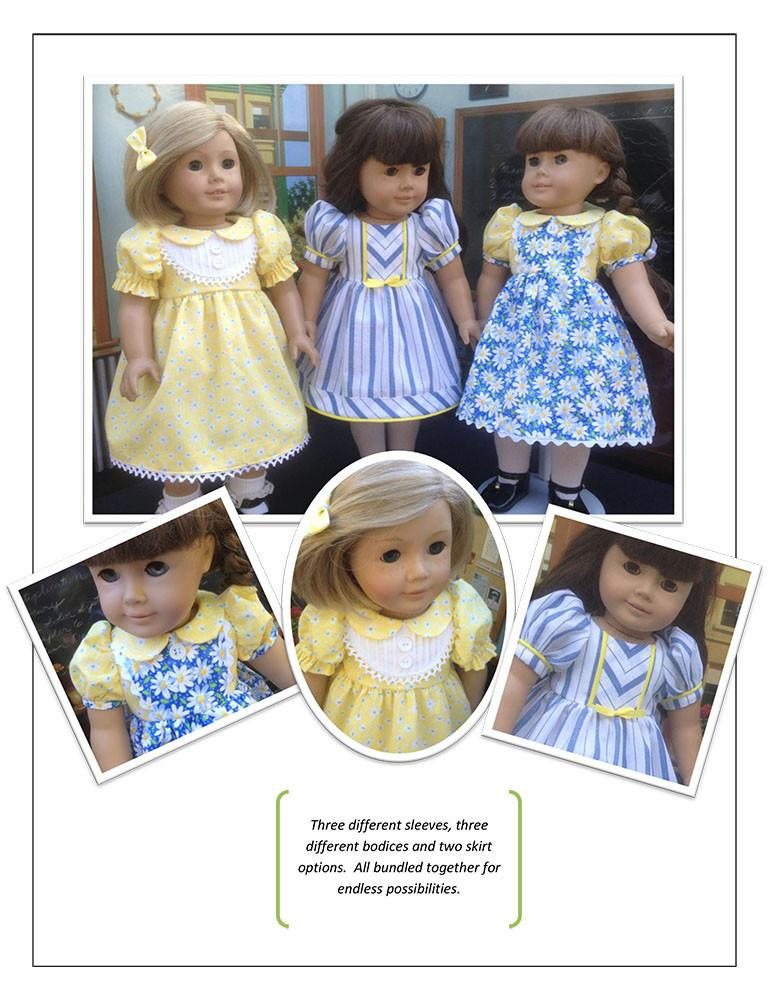 School Girl 18 Inch Doll Clothes Pdf Pattern Download