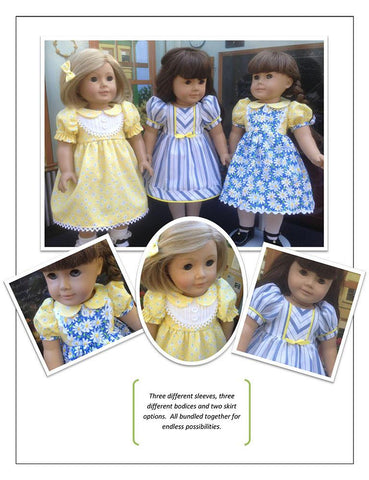 "School Girl 18"" Doll Clothes Pattern"