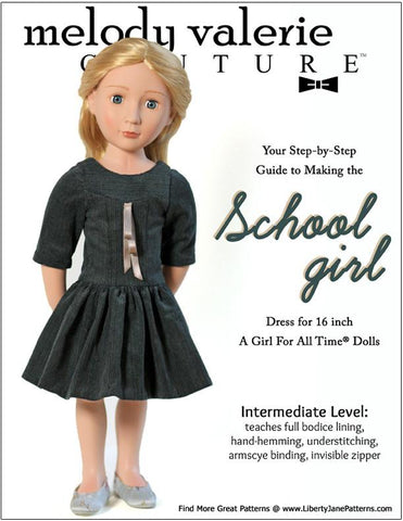 Schoolgirl Dress for AGAT Dolls