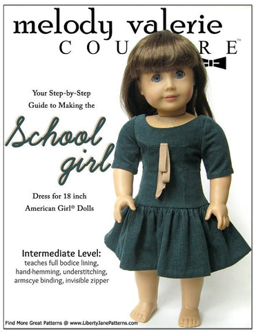 "Schoolgirl Dress 18"" Doll Clothes"