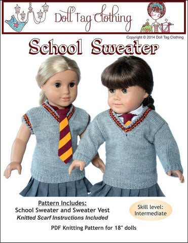 "School Sweater 18"" Doll Clothes"