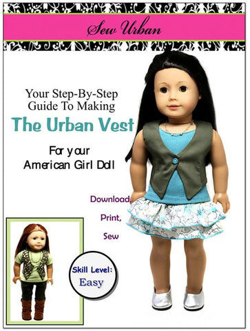 "Sew Urban 18 Inch Modern The Urban Vest 18"" Doll Clothes Pixie Faire"