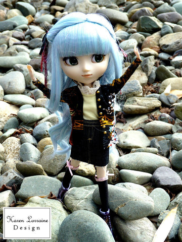 "Shanghai Jacket Pattern for 10-12"" Fashion Dolls"