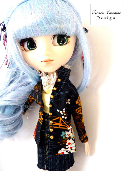 Shanghai Jacket Doll Clothes Pattern 10 12 Inch Fashion