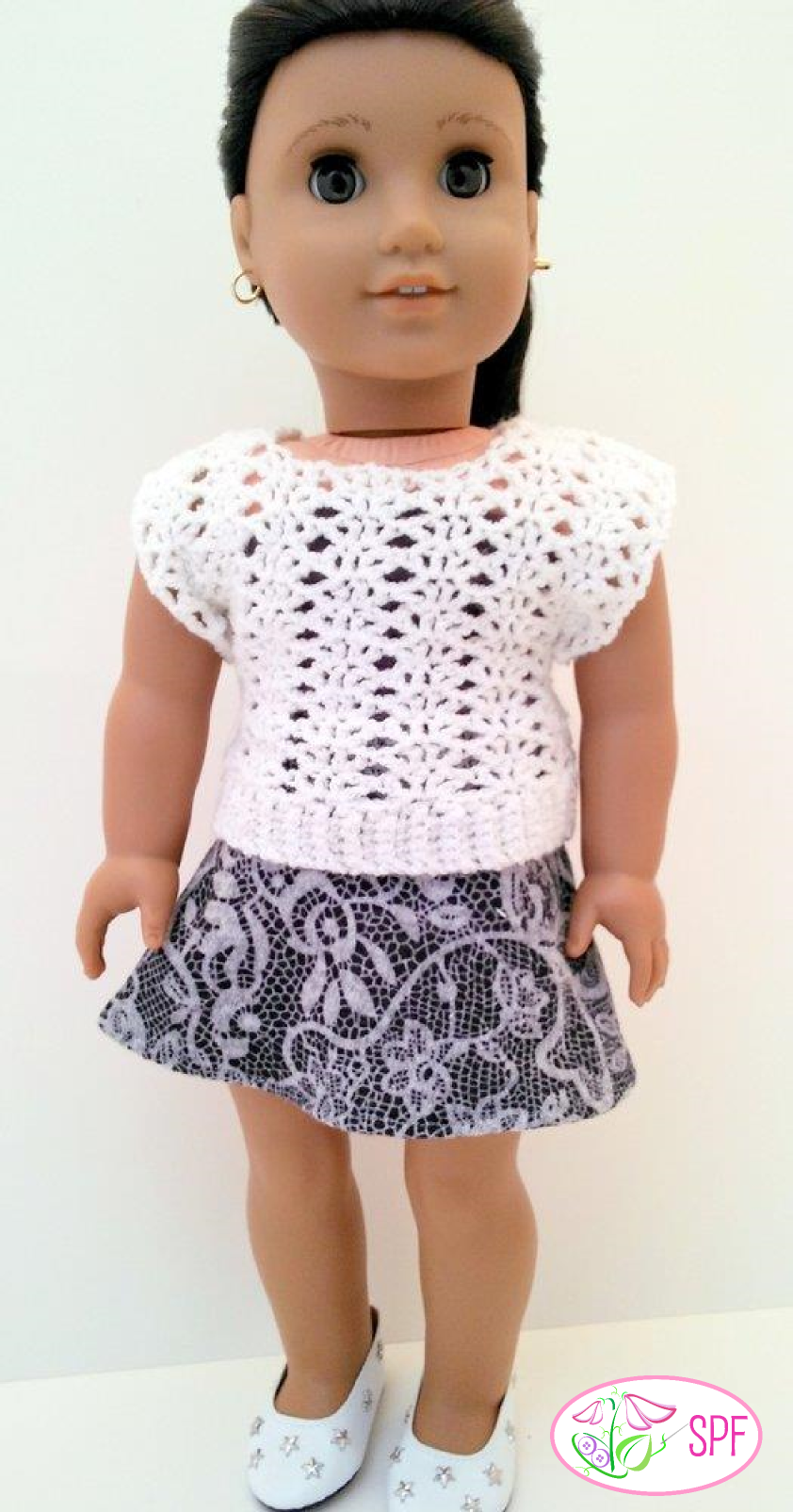 Sweet Pea Fashions Shannon Crocheted Openwork Top Doll Clothes ...