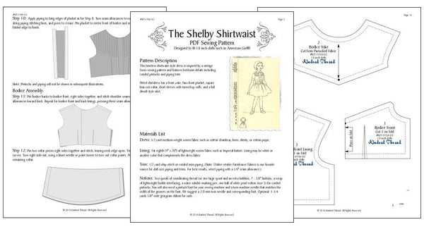 Kindred Thread Shelby Shirtwaist Doll Clothes Pattern 18