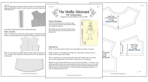 "The Shelby Shirtwaist 18"" Doll Clothes"