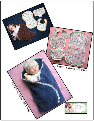 "Shells on Edge Sewing and Crochet Pattern 15"" Doll Clothes"