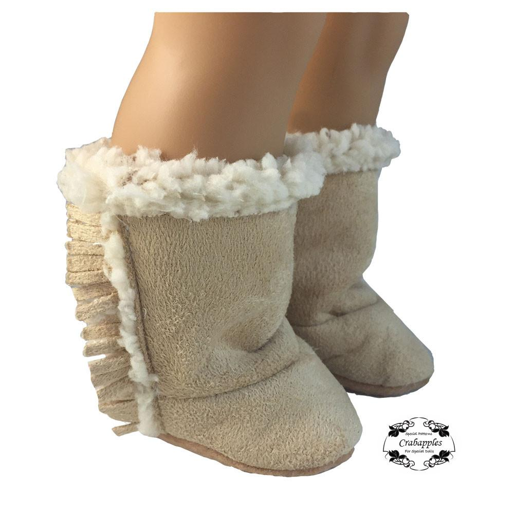 Crabapples Cozy Boots Doll Clothes Pattern 18 Inch